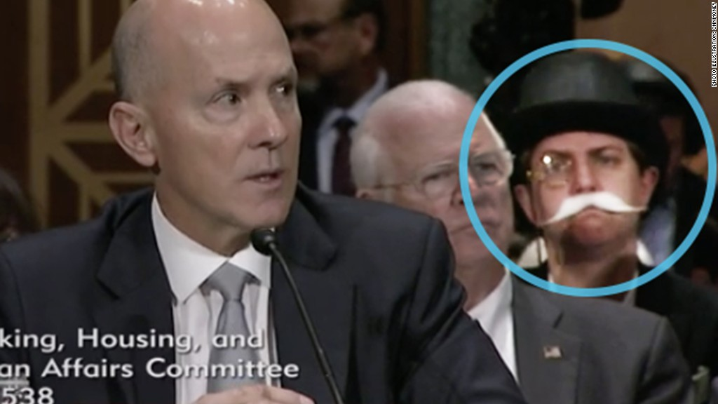 Mr. Monopoly photobombs Equifax hearing