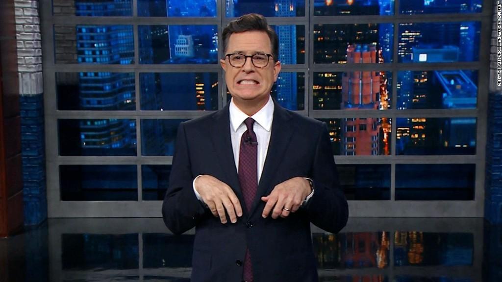 Colbert: Dinosaurs knew better than Weinstein
