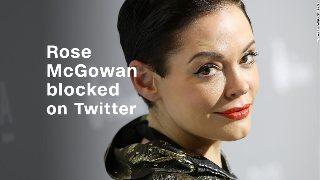Rose McGowan blocked on Twitter