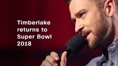 Timberlake returns to Super Bowl 2018