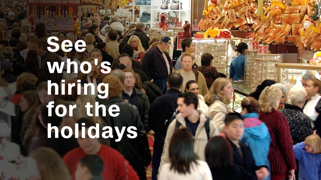 See who's hiring for the holidays
