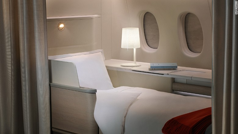 Best airline beds AirFrance La Premiere