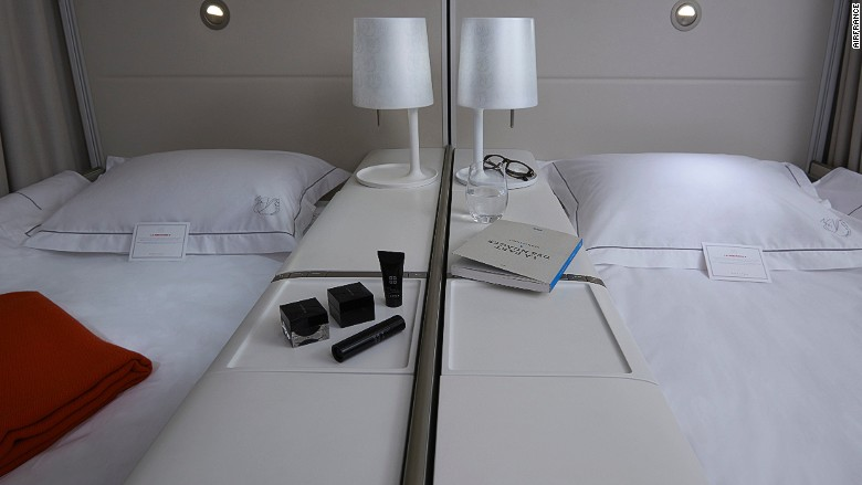 Best airline beds AirFrance La Premiere double