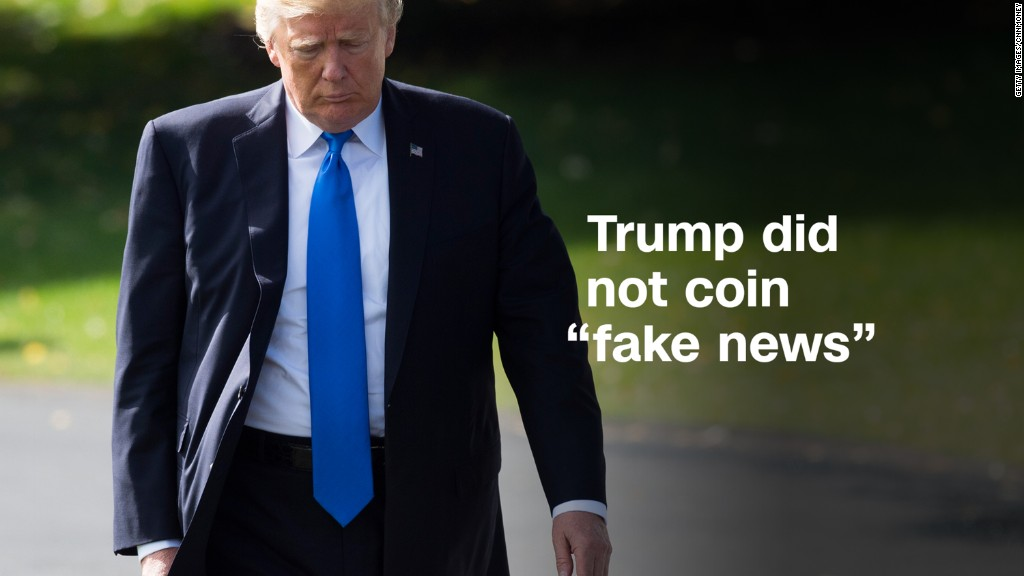 Donald Trump did not coin 'fake news'