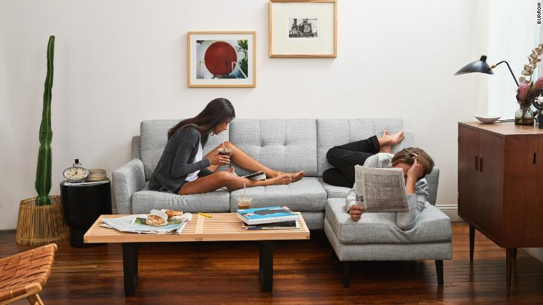 burrow chaise sectional