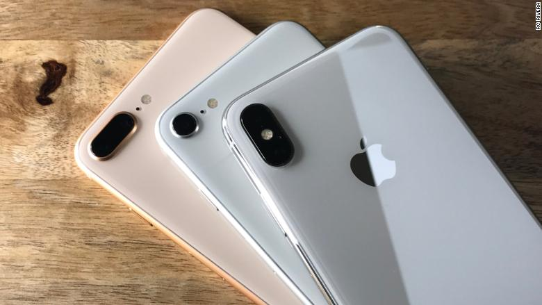 iPhone X and 8