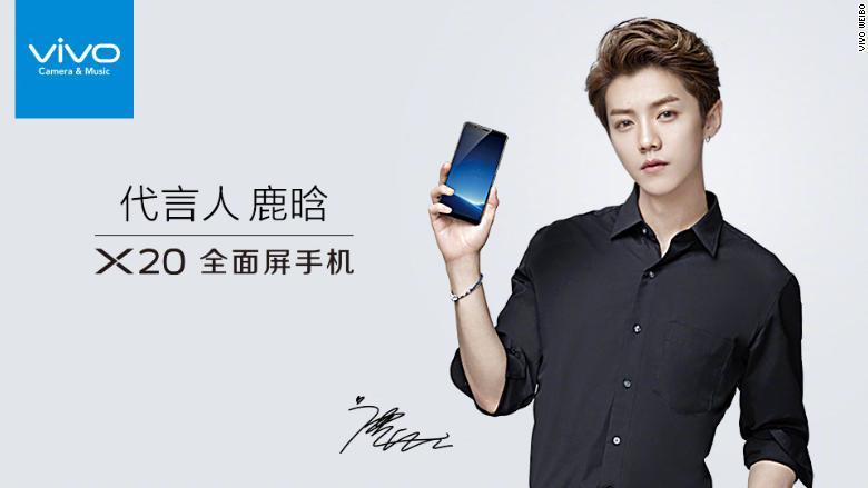 Vivo chinese smartphone pop singer lu han advert