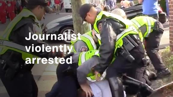 Reporter wounded during arrest at event with Virginia GOP candidate Ed Gillespie