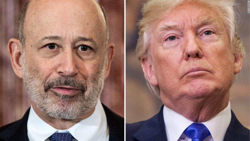 Clinton supporter Lloyd Blankfein gives Trump some credit for the economy