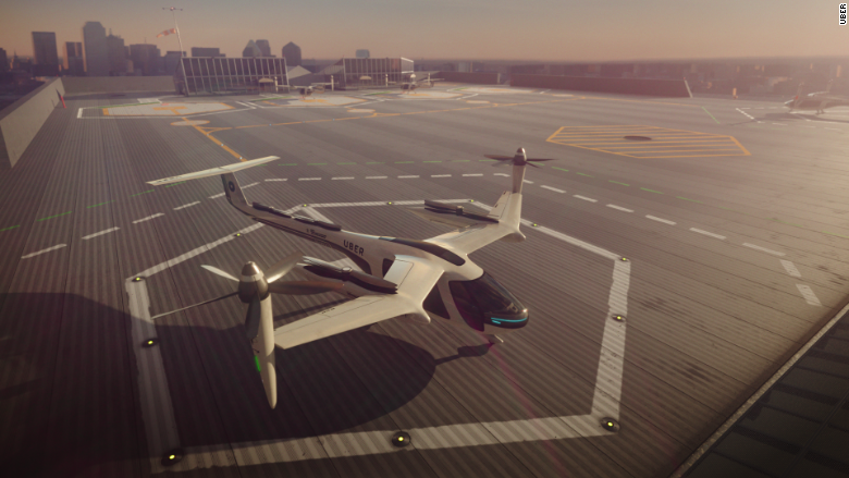 UberAIR nasa uber flying taxis tech