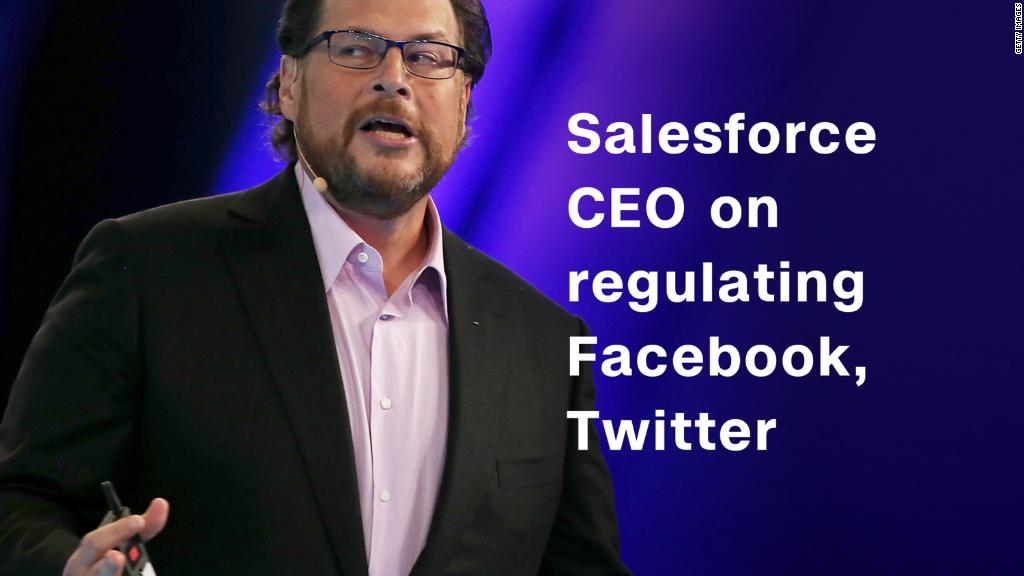 Salesforce CEO: Facebook and Twitter may need more regulation