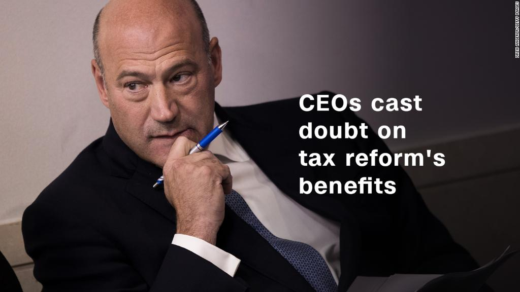 Watch CEOs cast doubt on tax reform's benefits