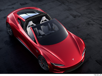 The Tesla Roadster Looks Small But Manages To Seat Four