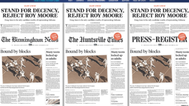 Alabama papers urge voters to 'reject Roy Moore'