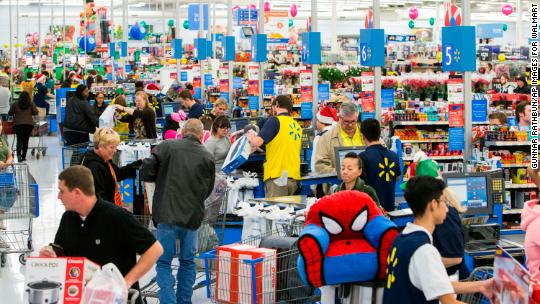 Walmart sales growth was the best in a decade