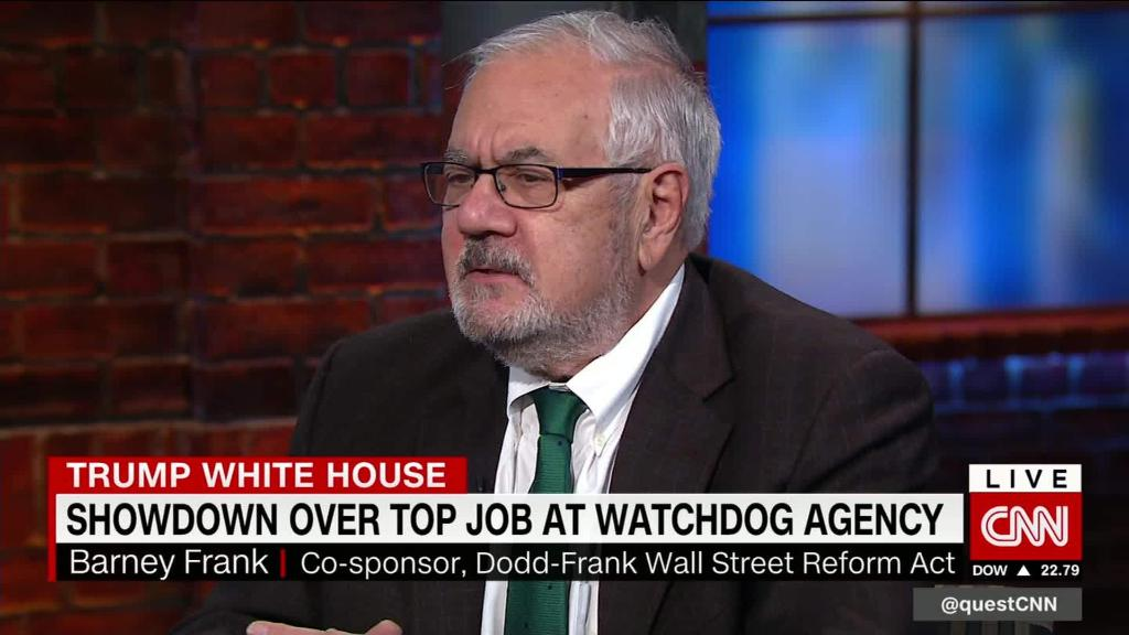 Barney Frank: CFPB out of control? Give me an example.