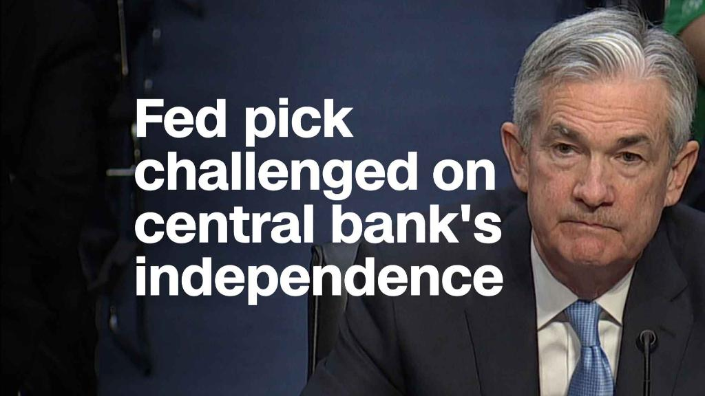 Fed pick challenged on central bank's independence