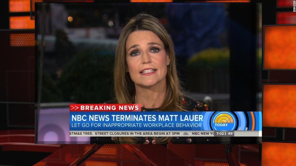 Co-host's emotional reaction to Lauer's firing