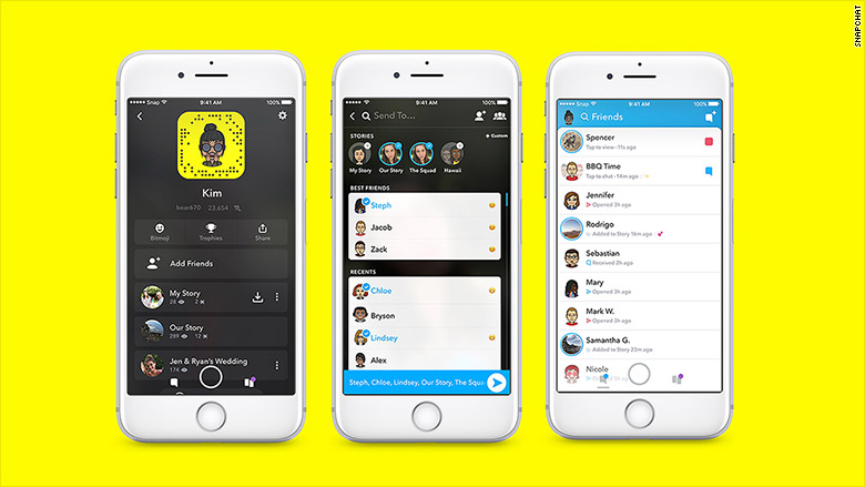 snapchat redesign