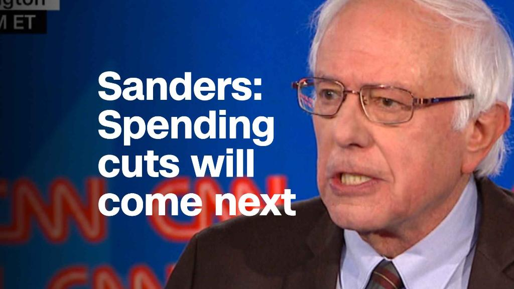 Bernie Sanders: Cuts to services will follow tax cuts