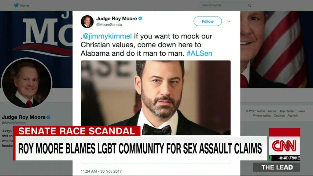 Roy Moore, Jimmy Kimmel spar on Twitter