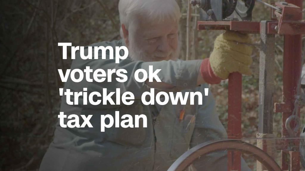 Trump voters ok 'trickle down' tax plan