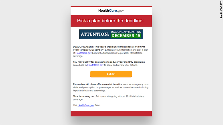 obamacare email new
