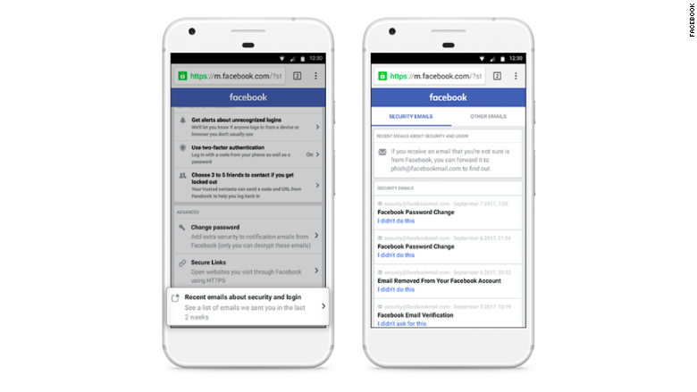 facebook phishing feature