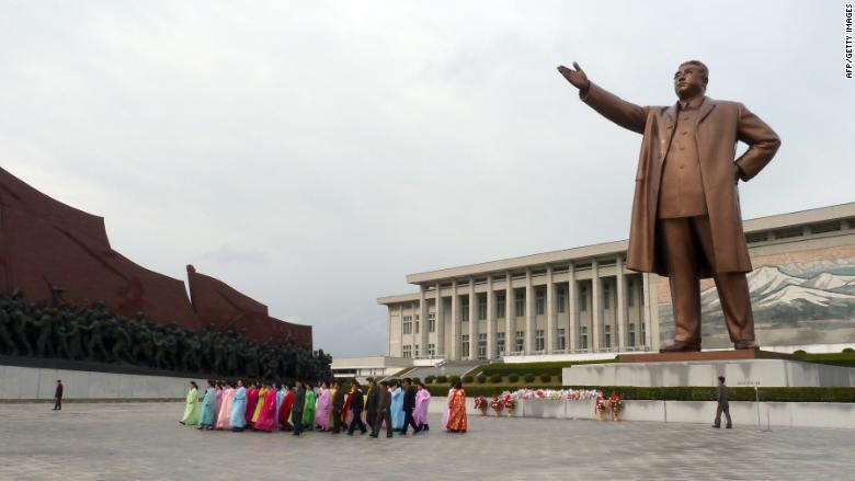 North Korean Pyongyang Mansudae Grand Monument