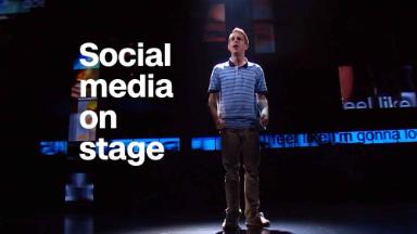 A Broadway show where social media is a character