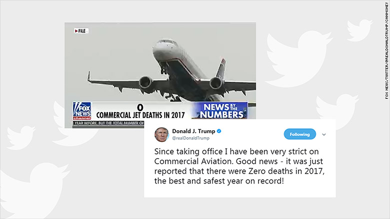 trump tweet aviation