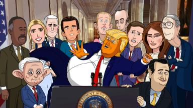 Stephen Colbert extends Trump satire into animated realm