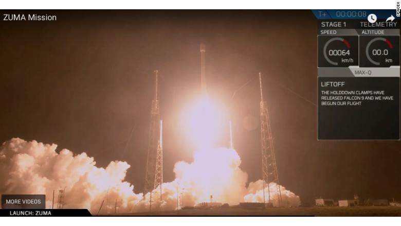 Spacex zuma launch