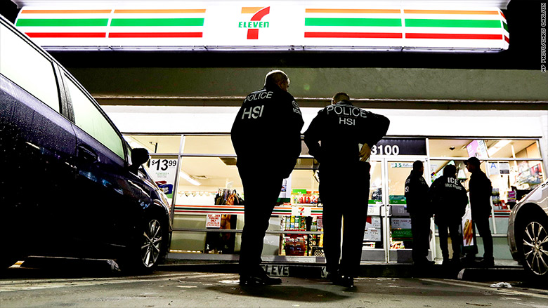 Ice Immigration Officers Swoop In On 7 Elevens Nationwide