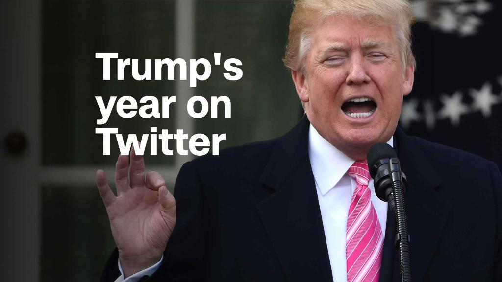How Twitter defined the first year of Trump's presidency
