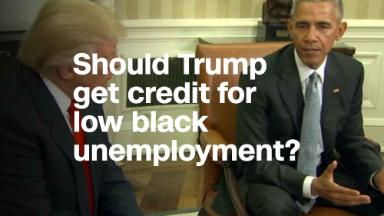 Black unemployment at record low. Should Trump get credit?