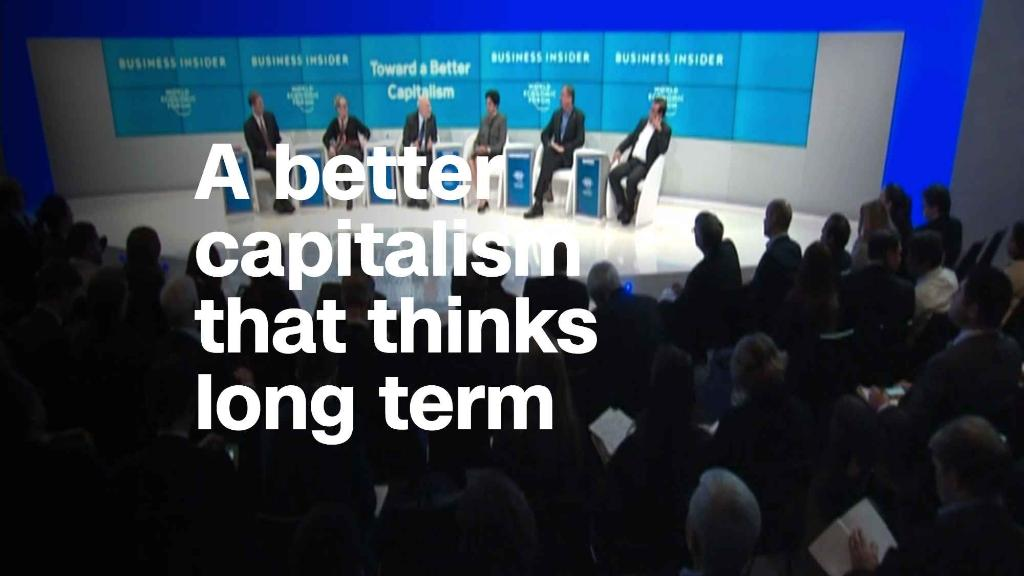 Creating a better capitalism that thinks long term