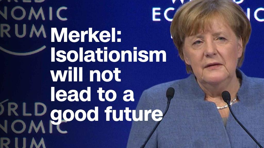 Merkel: Isolationism will not lead to a good future