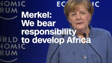 Merkel: We bear responsibility to develop Africa