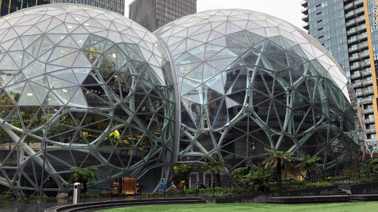 Amazon S Workplace Perk The Spheres Greenhouses To Open
