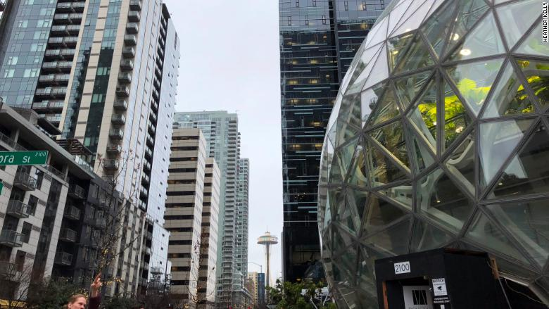 Amazon Spheres Space Needle