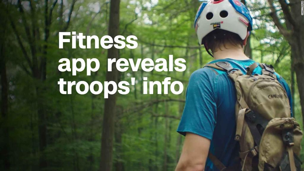 Fitness app reveals military info