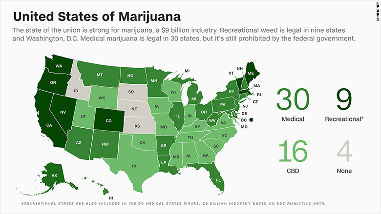 medical marijuana map