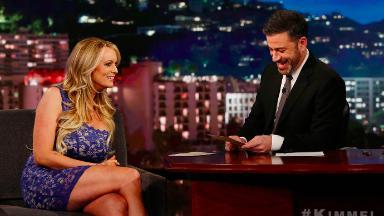 Stormy Daniels talks (and doesn't talk) Trump with Jimmy Kimmel