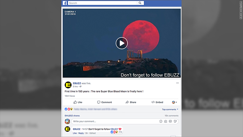 facebook supermoon video