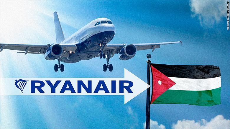 Ryanair Jordan Flights To Start In March