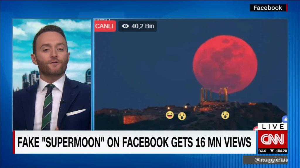 Fake 'supermoon' on Facebook gets 16 million views