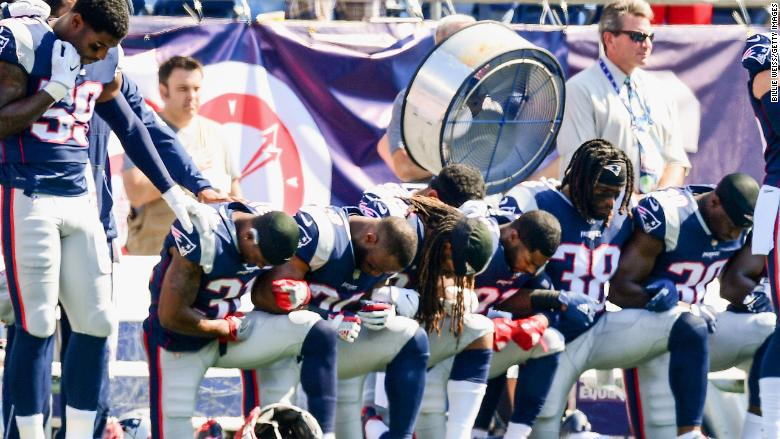 Image result for players kneeling