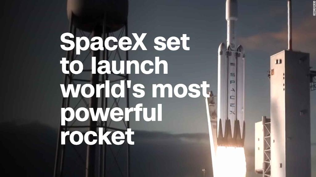 SpaceX set to launch world's most powerful rocket