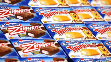 Walmart is giving less shelf space to Twinkies. Hostess falls 16%